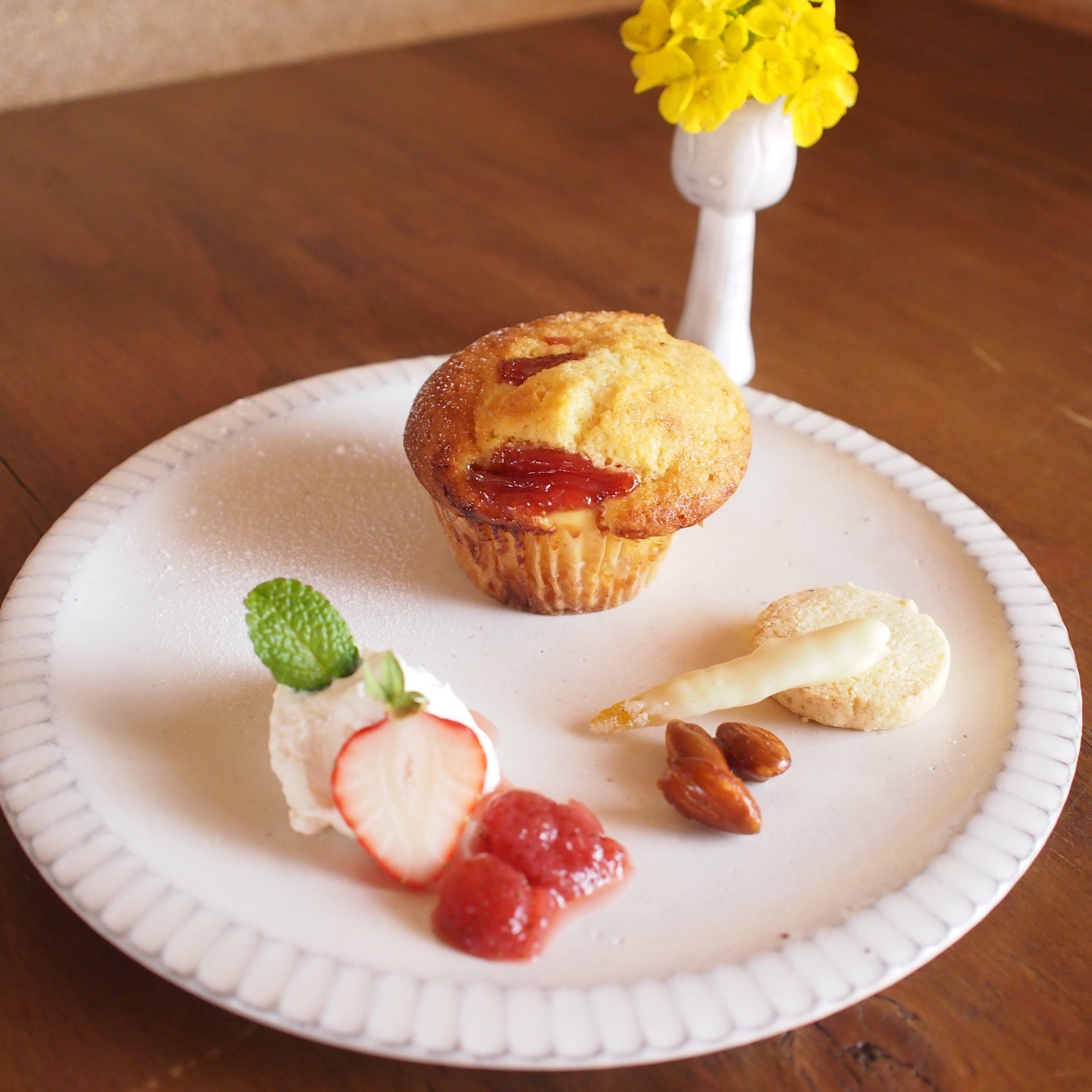 苺とクリームチーズのマフィン